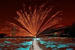 Malchamps (palateth) Tags: lightpainting lightart night belgique belgie belgium nophotoshop singleexposure sooc woods outdoor blue fireworks firework snow fagnes malchamps