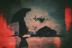 Walk in the rain (sf_streetphoto) Tags: instagram umbrella rain abstract iphone iphone6s iphoneography iphonephotography mobilephotography iphoneartistry mobileartistry blur blurry painterly silhouette einfarbig surreal