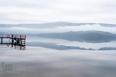 Mist Mirage, Loch Lomond (Sue_Hutton) Tags: fujiholics glencoetrip january2017 lochlomond westhighlands mist reflection winter