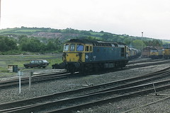 BRITISH RAIL 33115 (bobbyblack51) Tags: british railways class 331 brcw type 3 sulzer crompton parkinson bobo diesel locomotive 33115 exeter stabling point 1987