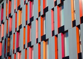 Farbige Fassade
