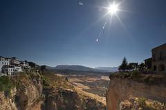 WY8D2198 (arcaswiss) Tags: sky sun sunlight architecture landscape glare ronda cloudless español