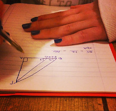 Mathematical girl (eltpics) Tags: work hands geometry nails math mathematics homework workout maths schoolwork trigonometry calculating eltpics everypic phrasals