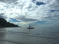 this morning (mccannmitchell) Tags: ocean sea beach water skyscape thailand coast boat seaside fishing shore bigsky seashore tidal southchinasea gulfofthailand goinfishin