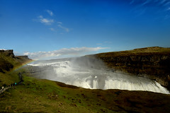 Gullfoss WaterFall 黃金瀑布 (MelindaChan ^..^) Tags: travel nature water river waterfall iceland tourist mel melinda gullfoss 黃金瀑布 冰島 chanmelmel melindachan