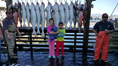 Ella, Oliver, and some nice fish!
