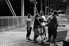 Jibophobia (OmarCCX) Tags: bridge red 35mm puerto nikon cine rico crew 18 filming upr dx d5200