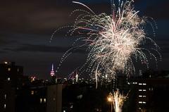 DSC_0488 (theduckmanz) Tags: city nyc newyorkcity summer newyork skyline brooklyn night nikon fireworks eastriver july4th d5100 nikond5100