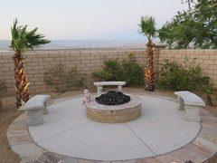 July 15, 2015 (63) (gaymay) Tags: california birthday gay love happy desert palmsprings benches firepit triad jerrysbirthday coachellavallley