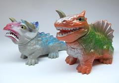 Miura dinosaurs (scobot) Tags: dinosaur kaiju triceratops miura dimetrodon sofubi