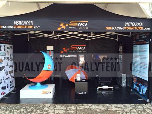 Carpas plegables, carpa de 3x4.5m personalizada para Siki Racing Furniture, carpas para eventos de empresa