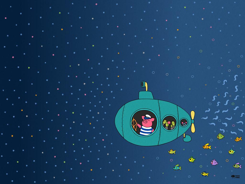 Captain Piggy And The Deep Blue Sea Cernaovec Tags Desktop Wallpaper