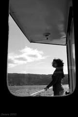 Nostalgia (Javiera C) Tags: valdivia chile river río agua water ship barco embarcación ventana window persona person people silueta silhouette
