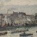 PISSARRO Camille,1896 - Port de Rouen, St-Sever (Orsay) - Detail 23