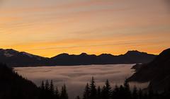Sunset on the sea (PhotoNic31) Tags: nuage cloud merdenuage seaofclouds pyrénéesatlantique sunset coucherdesoleil gourette