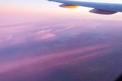 Coastline of England (Victor Dvorak) Tags: england uk unitedkingdom coastline flying flight aviation sunrise contrail boeing777 morning nikon d300s 20mmf28d geography