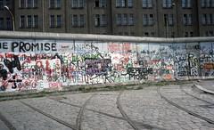 The Berlin Wall (SteveInLeighton's Photos) Tags: transparency kodachrome april 1989 germany berlin tramway berlinwall track deutschland