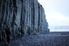 Reynisfjara (fordc63) Tags: iceland travel basalt lava cliff cliffs mountain column cave blacksand sand beach ocean sea surf tide waves