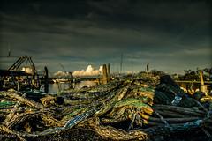 fish nets (paolotrapella) Tags: fish nets reti da pesca mare porto italia clouds nuvole sky cielo