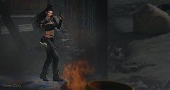 745 – Attention! Here is Ally! (Sannita_Cortes) Tags: secondlife sl styles virtualworld virtualfashion fashion female analogdog simonemeshhead lelutka lemporio thoranua