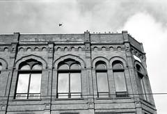 Victorian Commerical Building (Bill Smith1) Tags: believeinfilm billsmithsphotography december2016 hc110b heyfsc leslieville nikkoraf50f18lens nikonn90s rolleiretro400s toronto