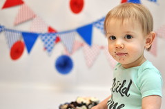 Wild One! Cake Smash (c.sscott) Tags: cake birthday boy baby toddler red blue portrait nikon