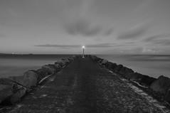 Beacon Light - Kings Cliff  NSW (andrewdavis15) Tags: tweedheads nsw northernriversnsw longexposure blackandwhite coast cudgencreek pier kingscliff