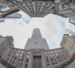ESB - Fisheye Lens (Jemlnlx) Tags: canon eos 5d mark iv 4 5div 5d4 dslr new york city ny nyc manhattan christmas 2016 holidays empire state building esb empirestatebuilding fisheye lens 815mm f4 l usm wide angle wideangle 34th street 34thstreet 34 fifth 5thavenue 5th avenue ave