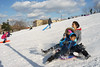 Sledding (dtanist) Tags: nyc newyork newyorkcity new york city sony a7 konica hexanon ar 40mm brooklyn sunset park snow sled sledding children kids