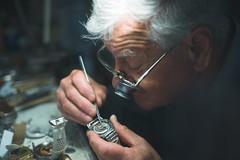 Watchmaker Katušić (C Bing) Tags: croatia dubrovnik summilux50mmf14asph leicam240 leicam watchmaker watchmaking