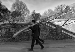 Alpine Pas de Deux ;) (lunaryuna) Tags: austria salzburg alphorns musicians alpinepasdedeux funny homourbe dailylife candid streetphotography blackwhite bw monochrome lightshadow lunaryuna