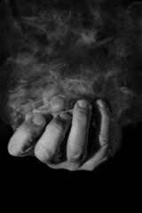 smoking hand 3 (Stokeparker) Tags: composite photoshop nikon hand smoke low lowkey selfie d610 tokina100mmf28macro