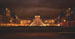 Louvre [FIXED] (mr.martino) Tags: city paris france museum architecture night dark warm pyramid louvre parigi cit muse musedulouvre