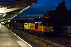 60_087_Shrewsbury_11_06_15 (chrisbe71) Tags: logs shrewsbury tug colas class60 60087 6c37