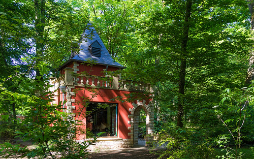 Little red castle in the woods
