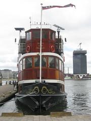 Prins van Oranje (streamer020nl) Tags: holland netherlands amsterdam boat ship nederland nl centrum schiff 1908 niederlande 2015 binnenstad shelltoren overhoeks salonboot partyship 090715 adamtoren