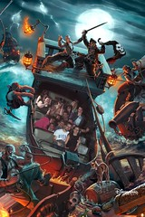 Pirates of the Caribbean (Elysia in Wonderland) Tags: birthday vacation holiday paris france june boat lucy emily ship ride amy disneyland pirates disney pete caribbean photopass rhys eloise elysia 2015