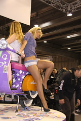 motorbike expo model (themax2) Tags: model highheels expo legs motorbike verona hostess pantyhose nylon 2011 promotora motorbikeexpo