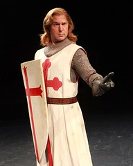 """Ron Bohmer as Sir Galahad in the 2010 Music Circus premiere of the Tony Award-winning Best Musical """"Monty Python's Spamalot"""" at the Wells Fargo Pavilion, July 9-18.  Photo by Charr Crail."""