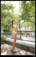 nEO_IMG__MG_9459 (c0466art) Tags: school light portrait cute water girl yellow female canon high energy asia play outdoor good gorgeous young taiwan bikini figure lovely charming activity nima 1dx c0466art