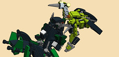 """Nice knives - almost a shame to cut 'em off your carcass!"" (phayze81) Tags: lego battle scifi mecha mech melee moc mfz mf0 mobileframezero"