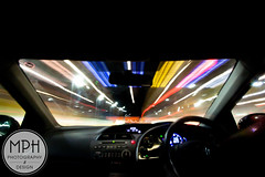 Long exposure in-car (MPH94) Tags: road trip light colour car liverpool canon lens photography long exposure angle wide wideangle tunnel incar inside straight 1018 kingsway merseyside 500d