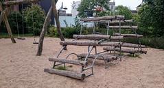 2CV. (Ro Rebbel) Tags: wood playground metal garden toys sand play swings logs pit 2cv