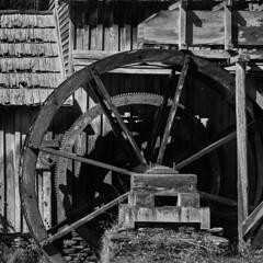 The Old Mill Wheel (Tim Ravenscroft) Tags: blackandwhite monochrome millwheel mabrymill virginia usa