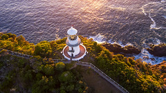 Merry Christmas (Jay Daley) Tags: drone aerial sugarloaf lighthouse nsw australia sunrise dji inspire1pro x5