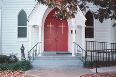 crosses (giacomo tiberia) Tags: como portra mississippi analog contax church