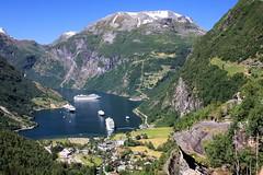 Geiranger (Kopolino) Tags: norway geiranger fjord cruise ships mountains