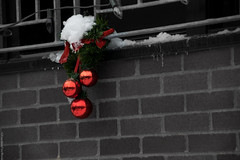 Christmas Balls (FreeManFreeWorld) Tags: christmas balls ball montreal boules noel rouge focus contrast contraste d5300 happy winter hiver snow neige decorations decoration