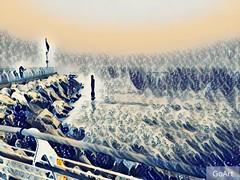 Lungomare di Pesaro - Hokusai style - Pesaro 7 dicembre 2016 (cepatri55) Tags: 2016 pesaro hokusai lungomare cepatri cepatri55