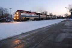 Winter's Heat (Wide Cab) Tags: bcol britishcolumbiarailways bcr c408m c449wl dash9 dash8 freight train a447 neenahsub oshkoshwi